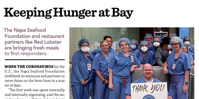 Full Service Restaurant News (FSR Magazine) features Seafood for Heroes in July issue
